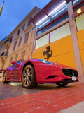 A Ferrari and Auto Showroom in Monte Carlo Photographic Print by Greg Dale