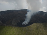 An Active Lava Lake in Nyiragongo Volcano Photographic Print by Peter Carsten