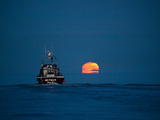 A Driftnet Boat Fishing for Sockeye Salmon in Bristol Bay Photographic Print by Michael Melford