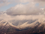 Storm Clouds Clearing over the Snow-Blanketed Great Smoky Mountains Photographic Print by Karen Kasmauski