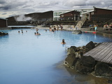 The Main Hot Spring Pool at Jardbodin, Lake Myvatn, Iceland Photographic Print by Nigel Hicks