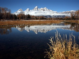 Mountains Reflected in the Snake River in Grand Teton National Park Photographic Print by Aaron Huey