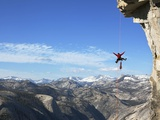 Expert Climber and Photographer, Jimmy Chin, on Assignment in Yosemite National Park Photographic Print by Mikey Schaefer