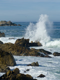 Surf Pounding the Rocks Along the Monterey Bay Coast Photographic Print by Brian Gordon Green