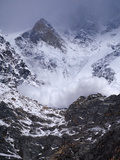 An Avalanche Rumbles to Within a Hundred Yards of Base Camp Photographic Print by Tommy Heinrich