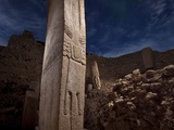 Pillars at the Temple of Gobekli Tepe May Represent Priestly Dancers Photographic Print by Vincent J. Musi
