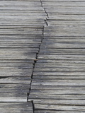 Detail of Deck Boards at Plitvice Lakes Photographic Print by Joe Petersburger