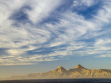 Mountains under a Cloud-Filled Sky on the Baja, Mexico Coast Photographic Print by Anne Keiser