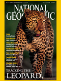 Cover of the October, 2001 Issue of National Geographic Magazine Photographic Print by Kim Wolhuter