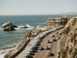 World Famouse Cliff House Restaurant as Seen from Sutro Heights on the Oceanside of San Francisco Photographic Print by J. Baylor Roberts