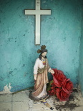 A Statue of Jesus at a Cemetery in Nicholas Bravo Photographic Print by Aaron Huey