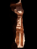 The Treasury, Al Khazneh, Through a Narrow Opening in Al Siq Passage Photographic Print by Kent Kobersteen