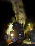 Polish State Railways Steam Locomotive after Bringing in Commuters Photographic Print by Kent Kobersteen