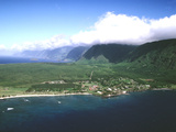 Aerial View of Kalaupapa National Park and the Peninsula Photographic Print by Patrick McFeeley
