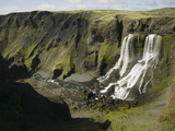 Fagrifoss Falls, Along the Road Towards Lakagigar, Iceland Photographic Print by Nigel Hicks