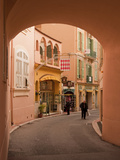 A View of a Street from under the Archway of the Prince's Palace Photographic Print by Greg Dale