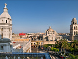 An Overview of Veracruz's Central Plaza, Called the Zocalo Photographic Print by Steve Raymer