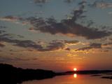 Sunset over the Chincoteague National Wildlife Refuge Fotografisk tryk af Karen Kasmauski