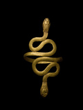An Egyptian Gold Bracelet Takes the Shape of Two Coiled Snakes Photographic Print by Kenneth Garrett