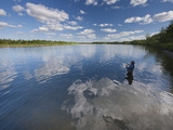 Fishing for King Salmon in the Nushagak River Photographic Print by Michael Melford