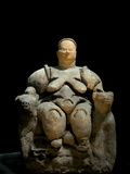 Kybele, Mother-Goddess Sculpture Found at Catalhoyuk Photographic Print by Vincent J. Musi