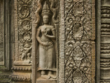 Intricate Carvings in Cambodia's Angkor Wat Temple Complex Photographic Print by Karen Kasmauski