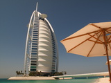 The Burj Al Arab Hotel on Jumeirah Beach in Dubai Photographic Print by Kris Leboutillier