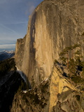 The Northwest Face of Half Dome Peak in Yosemite National Park Fotografisk tryk af Jimmy Chin