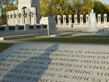 The World War II Memorial with the Shadow of a WWII Veteran Photographic Print by Karen Kasmauski