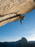 Without a Rope, a Climber Scales a Route on Glacier Point Called Heaven Photographic Print by Jimmy Chin