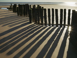 Silhouette of the Remains of a Groyne on the Beach at Dawlish Warren Photographic Print by Nigel Hicks