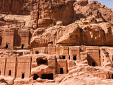 Tombs on the Street of Facades, Petra, Jordan Photographic Print by Kent Kobersteen