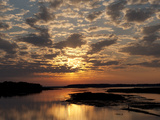 Sunset over the Chincoteague National Wildlife Refuge Photographic Print by Karen Kasmauski