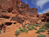 Sandstone Cliffs in the Valley of Fire State Park Photographic Print by Raul Touzon