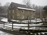 Falling Snow Coats Historic Old Pierce Mill Photographic Print by Stephen St. John