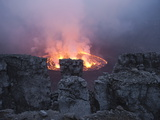 A Fiery Lava Lake in Nyiragongo's Crater Photographic Print by Peter Carsten