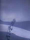 The Ski Lift at Faraya Ski Resort Near Beirut Photographic Print by Aaron Huey