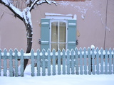 Santa Fe under a Blanket of Snow Photographic Print by Raul Touzon