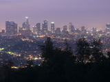 Dawn in Los Angeles from the Griffith Observatory Fotografisk tryk af Rich Reid