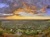Panoramic Shot of Boulder at Sunset Photographic Print by Sam Kittner