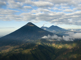 Aerial View of Volcanoes in the Lake Atitlan Area Photographic Print by Karen Kasmauski