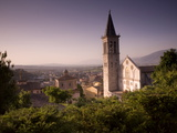 The Cathedral of Santa Maria Assunta Above Spoleto at Dusk Photographic Print by Aaron Huey