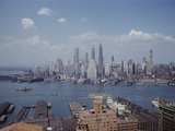 New York City - Lower Manhattan from Roof of Brooklyn's St. George Hotel Photographic Print by B. Anthony Stewart
