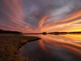 Sunset over a Chesapeake Bay Shoreline Photographic Print by Skip Brown