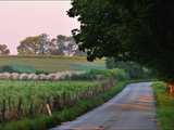 Fields and Haystacks in the Maple Grove Road Rural Historic District Photographic Print by Steve Raymer