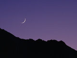 The Crescent Moon Rising Above Laila Peak in the Rupal Valley Photographic Print by Tommy Heinrich