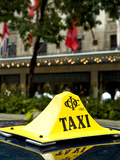 Taxi Medallion on Top of a Cab in Toronto Photographic Print by Richard Hewitt Nowitz