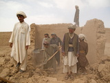 Refugees Demolish Buildings in Zhari Dasht in Kandahar, Afghanistan Photographic Print by Kris Leboutillier