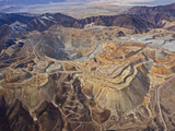 Bingham Canyon Mine Is the Largest Man-Made Excavation in the World Photographic Print by Michael Melford