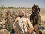 Workers on a Bridge Project in Arghandab, Near Kandahar, Afghanistan Photographic Print by Kris Leboutillier